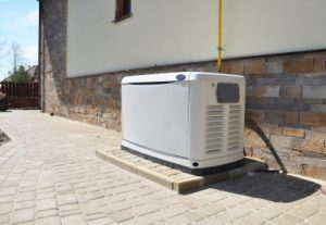 Backup generator for a building